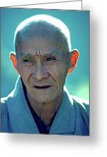 Portrait Of Monk In China Greeting Card