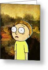 Portrait Of Morty Greeting Card