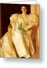 Portrait Of Mrs Eben Richards Anders Zorn Greeting Card