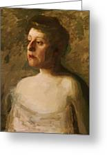 Portrait Of Mrs W H Bowden 1906 Greeting Card