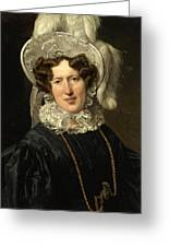 Portrait Of Mrs Wartfeld Greeting Card
