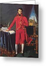 Portrait Of Napolan Bonaparte The First Council 1804 Greeting Card