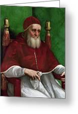 Portrait Of Pope Julius II - 1511 Greeting Card