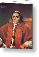 Portrait Of Pope Pius Greeting Card
