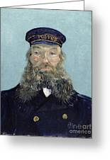 Portrait Of Postman Roulin Greeting Card by Vincent van Gogh