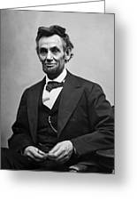 Portrait Of President Abraham Lincoln Greeting Card by International  Images