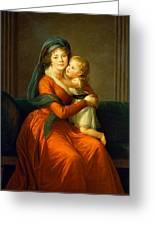 Portrait Of Princess Alexandra Golitsyna And Her Son Piotr Greeting Card