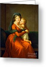 Portrait Of Princess Alexandra Golitsyna And Her Son Piotr Greeting Card