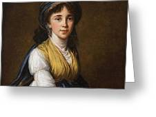 Portrait Of Princess Belozersky Lisabeth Louise Vige Le Brun Greeting Card