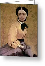 Portrait Of Princess Pauline De Metternich Greeting Card by Edgar Degas