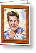 Portrait Of Ricky Martin Greeting Card