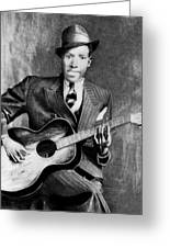Portrait Of Robert Johnson Greeting Card