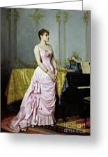 Portrait Of Rose Caron Greeting Card