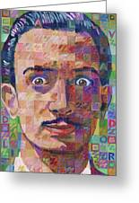 Portrait Of Salvador Dali Greeting Card