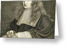 Portrait Of Sir Isaac Newton Greeting Card
