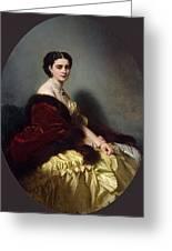 Portrait Of Sophia Petrovna Naryshkina Franz Xavier Winterhalter Greeting Card