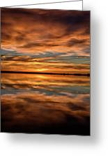 Portrait Of Sunrise Reflections On The Great Plains Greeting Card
