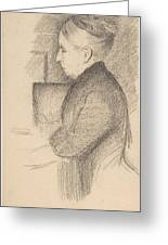 Portrait Of The Artists Mother Greeting Card