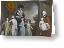 Portrait Of The Children Of William Greeting Card