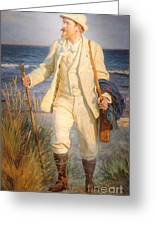 Portrait Of The Danish Painter Peder Severin Kroyer Greeting Card
