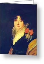 Portrait Of The Princess A Scherbatova 1808 Greeting Card