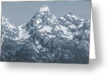 Portrait Of The Tetons Greeting Card