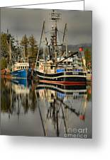 Portrait Of The Ucluelet Trawlers Greeting Card