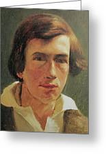 portrait of the young Arnold Bocklin Greeting Card