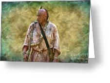 Portrait Of Warrior Bushy Run Greeting Card