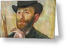 Portrait Of Zacherie Zacharian Greeting Card
