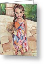Portrait Painting Greeting Card