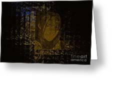 Portrait Reflection From Fresnel Prisms Greeting Card