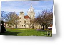 Portsmouth Cathedral At Springtime Greeting Card