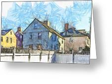 Portsmouth New Hampshire Pencil Greeting Card