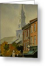 Portsmouth North Church Tower Greeting Card
