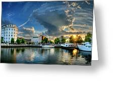 Portsmouth Sunset Greeting Card