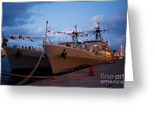 Portuguese Frigates Greeting Card