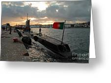 Portuguese Navy Submarine Greeting Card