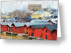 Porvoo Town Greeting Card