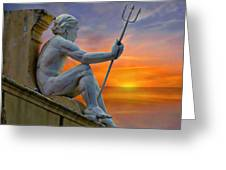 Poseidon - God Of The Sea Greeting Card