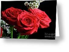 Posey Of Roses Greeting Card by Tracy Hall