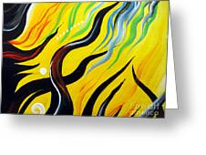 Positive Energy. Abstract Art Greeting Card