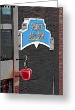 Post Alley 3 Greeting Card