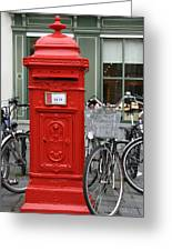 Post Box In Bruge Greeting Card