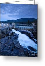 Post Falls Dam Greeting Card
