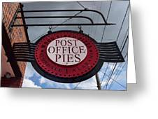 Post Office Pies Greeting Card