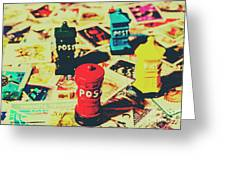 Postage Pop Art Greeting Card