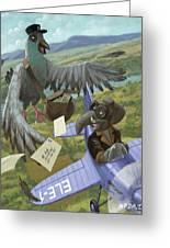 Postal Bird Greeting Card by Martin Davey