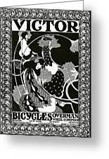 Poster Advertising Victor Bicycles Greeting Card