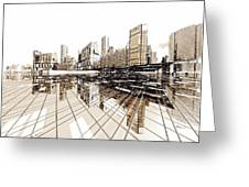 Poster-city 4 Greeting Card by Max Steinwald